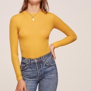 Reformation Davy Top - Yellow